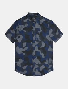ARMANI EXCHANGE CAMO SHORT SLEEVE SHIRT Short sleeve shirt Man b
