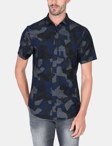 ARMANI EXCHANGE CAMO SHORT SLEEVE SHIRT Short sleeve shirt Man f