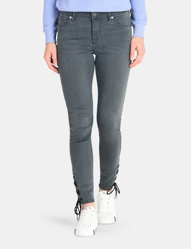 LACE-UP SUPER-SKINNY JEAN