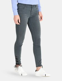 ARMANI EXCHANGE LACE-UP SUPER-SKINNY JEAN Skinny jeans Woman d