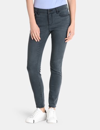 ZIP POCKET GREY SUPER-SKINNY JEAN