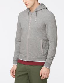 ARMANI EXCHANGE LOGO PLACKET ZIP-UP HOODIE Fleece Top Man d