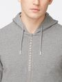 ARMANI EXCHANGE LOGO PLACKET ZIP-UP HOODIE Fleece Top Man e