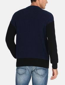 ARMANI EXCHANGE PIECED CABLE CREWNECK SWEATER Pullover Man r