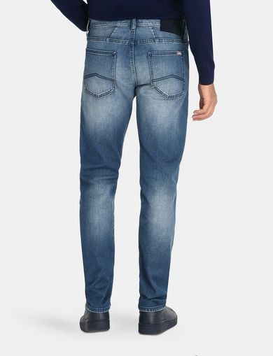 SLIM FIT STITCHED JEANS