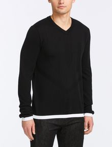 ARMANI EXCHANGE COTTON CASHMERE V-NECK SWEATER Pullover Man f