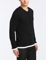 ARMANI EXCHANGE COTTON CASHMERE V-NECK SWEATER Pullover Man d