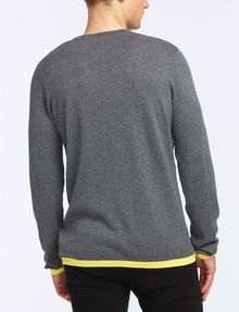 ARMANI EXCHANGE COTTON CASHMERE V-NECK SWEATER Pullover Man r