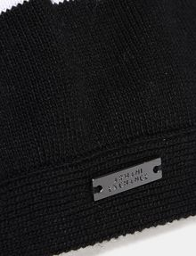 ARMANI EXCHANGE STRIPE ACCENT KNIT BERET Hat Woman d