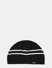 ARMANI EXCHANGE STRIPE ACCENT KNIT BERET Hat Woman f