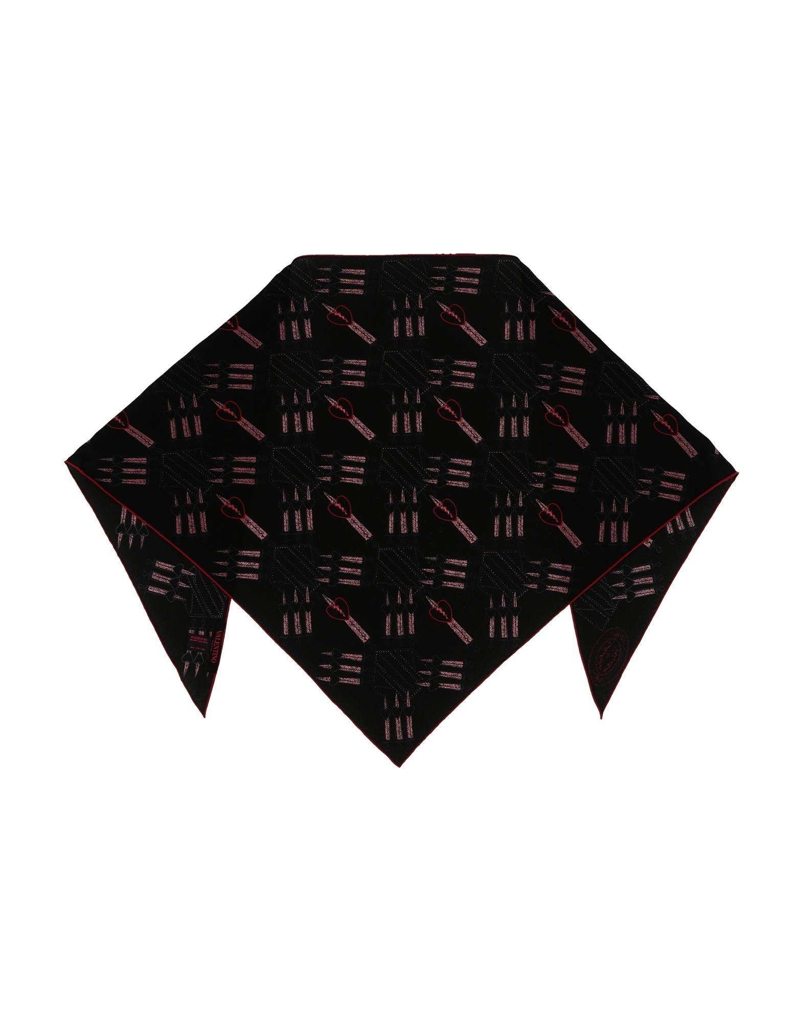 VALENTINO Шаль павловопосадская шерстяная шаль с шелковой бахромой волшебный узор 148х148 см