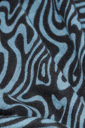 DIANE VON FURSTENBERG Kenley intarsia-knit cashmere scarf