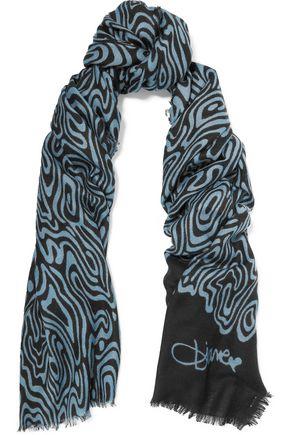 DIANE VON FURSTENBERG Kenley intarsia cashmere scarf