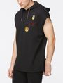ARMANI EXCHANGE SLEEVELESS LOGO PATCH HOODIE Fleece Top [*** pickupInStoreShippingNotGuaranteed_info ***] d