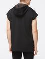 ARMANI EXCHANGE SLEEVELESS LOGO PATCH HOODIE Fleece Top [*** pickupInStoreShippingNotGuaranteed_info ***] r