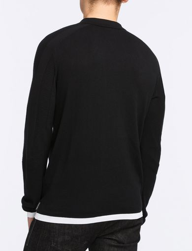 COTTON CASHMERE QUARTER-ZIP SWEATER