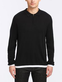 ARMANI EXCHANGE COTTON CASHMERE QUARTER-ZIP SWEATER Pullover Man f