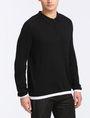 ARMANI EXCHANGE COTTON CASHMERE QUARTER-ZIP SWEATER Pullover Man d