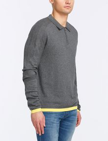 ARMANI EXCHANGE COTTON CASHMERE QUARTER-ZIP SWEATER Pullover Man d