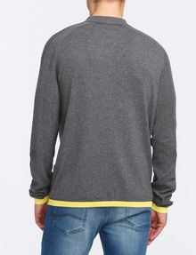 ARMANI EXCHANGE COTTON CASHMERE QUARTER-ZIP SWEATER Pullover Man r