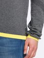 ARMANI EXCHANGE COTTON CASHMERE QUARTER-ZIP SWEATER Pullover Man e
