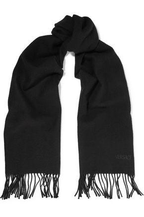 GIANNI VERSACE Fringed wool-felt scarf