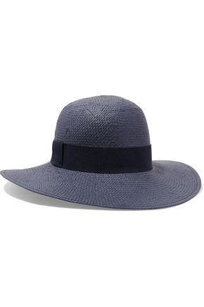 IRIS AND INK Grosgrain-trimmed straw hat
