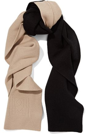 TOTÊME Elvas two-tone merino wool and cotton-blend scarf