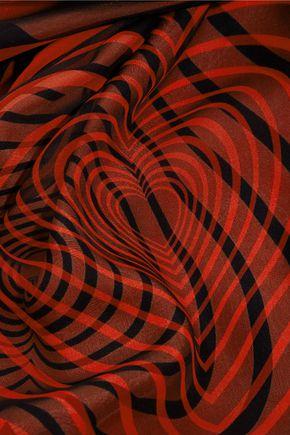 CHRISTOPHER KANE Printed silk-satin scarf