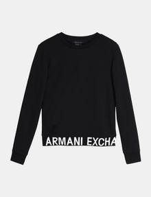 ARMANI EXCHANGE LOGO HEM SWEATSHIRT TOP Fleece-Top Damen b