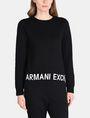 ARMANI EXCHANGE LOGO HEM SWEATSHIRT TOP Fleece-Top Damen f
