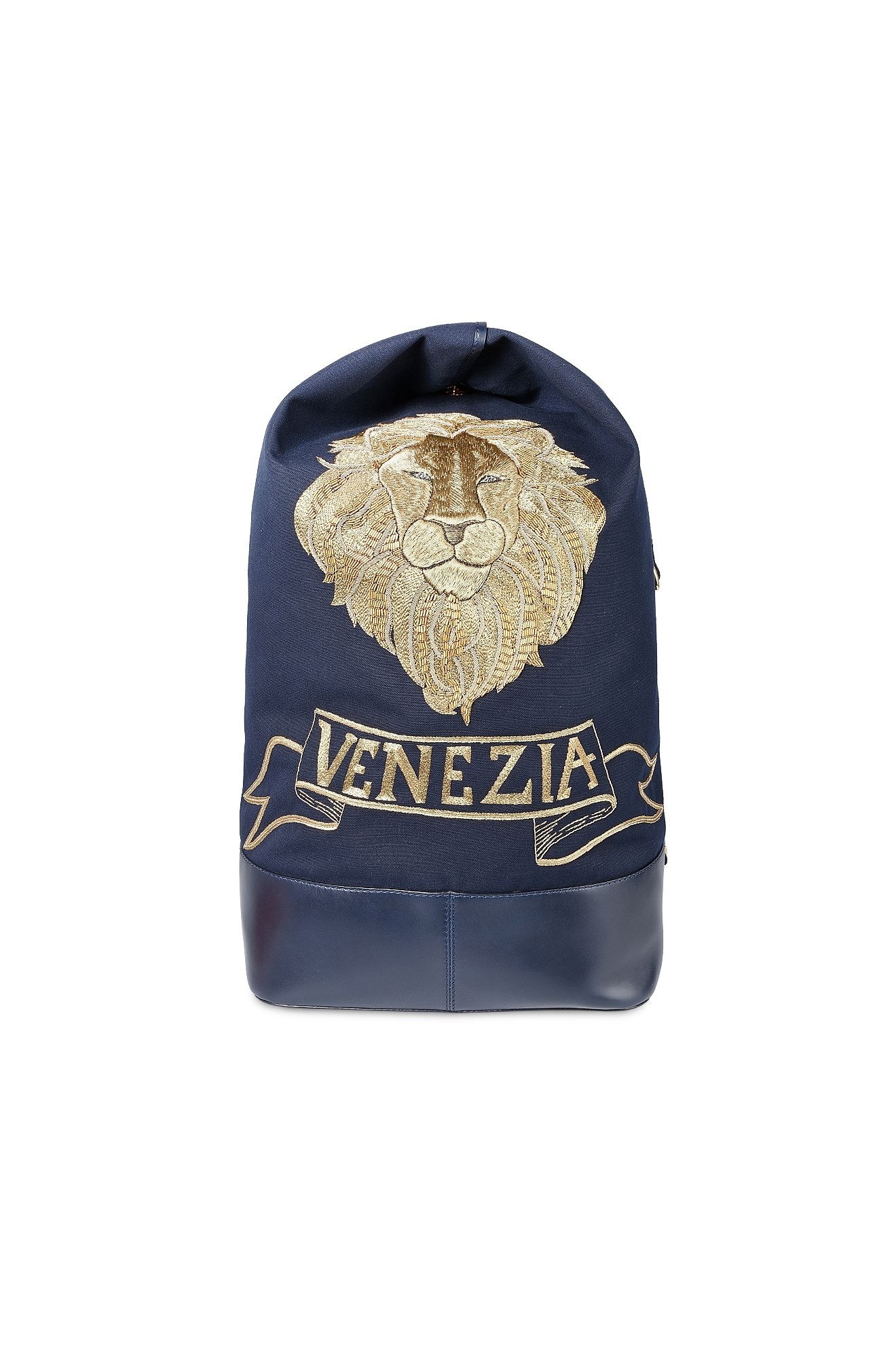 Maxi bag with gold lion