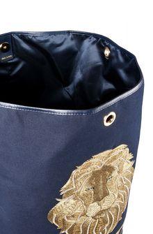 ALBERTA FERRETTI Große Tasche mit Goldlöwe Crossbody Bag Damen a