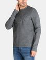 ARMANI EXCHANGE EMBOSSED LOGO SWEATSHIRT Fleece Top Man d