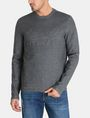 ARMANI EXCHANGE EMBOSSED LOGO SWEATSHIRT Fleece Top Man f