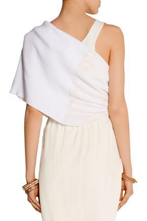 BAJA EAST Printed waffle-knit cotton wrap