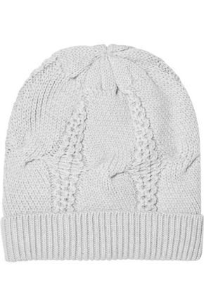 DUFFY Cable-knit merino wool beanie