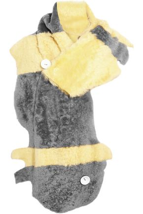 KARL DONOGHUE Alpine striped shearling scarf