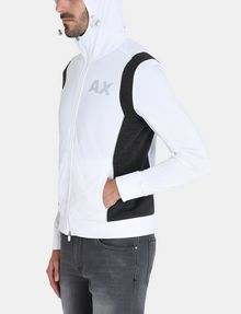 ARMANI EXCHANGE PIECED LOGO ZIP-UP HOODIE Fleece Jacket Man d