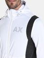 ARMANI EXCHANGE PIECED LOGO ZIP-UP HOODIE Fleece Jacket Man e
