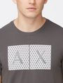 ARMANI EXCHANGE TRIANGLE LOGO T-SHIRT Logo T-shirt Man e