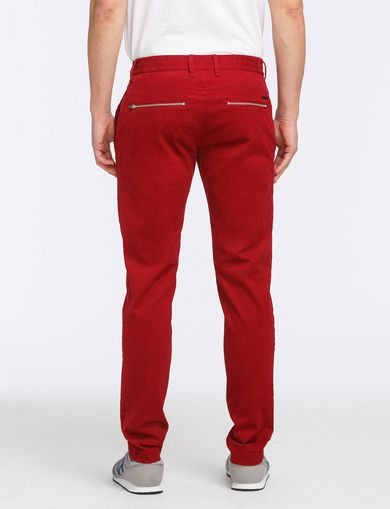 SLIM FIT ZIPPER DETAIL PANTS