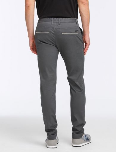 SLIM FIT ZIPPER DETAIL PANTS