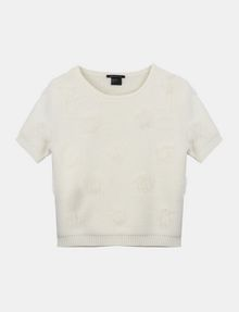 ARMANI EXCHANGE SHORT SLEEVE TEXTURED DOT SWEATER Pullover Woman b