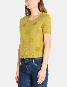 ARMANI EXCHANGE SHORT SLEEVE TEXTURED DOT SWEATER Pullover Woman d