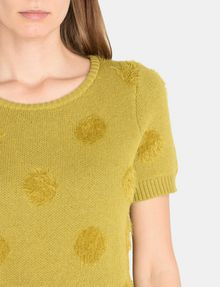 ARMANI EXCHANGE SHORT SLEEVE TEXTURED DOT SWEATER Pullover Woman e
