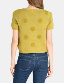 ARMANI EXCHANGE SHORT SLEEVE TEXTURED DOT SWEATER Pullover Woman r