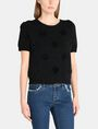 ARMANI EXCHANGE SHORT SLEEVE TEXTURED DOT SWEATER Pullover Woman f