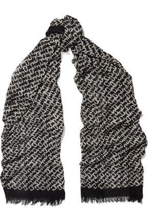 DIANE VON FURSTENBERG Printed gauze scarf