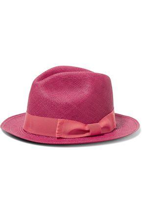 SENSI STUDIO Frayed toquilla straw Panama hat